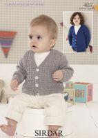Sirdar Leaflet 4657 Baby Boy Cardigan