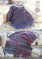 Sirdar leaflet No 7294 Chunky Crochet Blanket