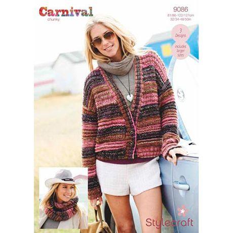 Stylecraft Leaflet 9086 Carnival Chunky Jacket