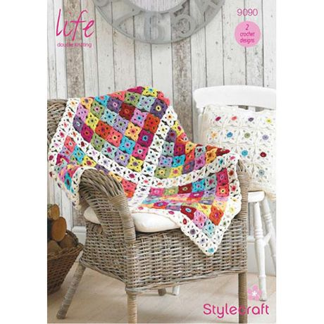 Stylecraft Leaflet 9090 Crochet Throw