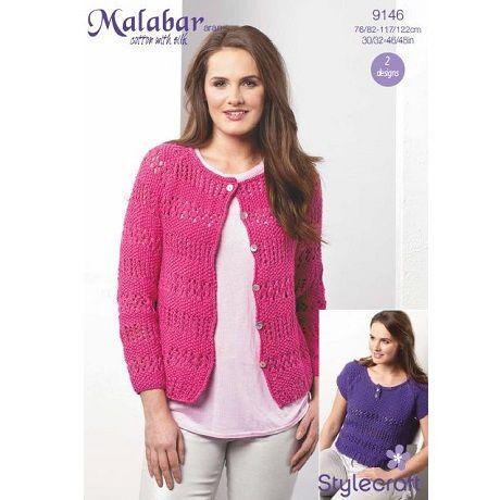 Stylecraft Leaflet 9146 Malabar Aran Cardigan
