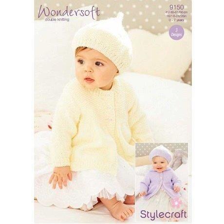 Stylecraft Leaflet 9150 Baby Dk  Jacket And Hat