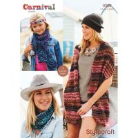 Stylecraft Leaflet 9089 Carnival Scarf