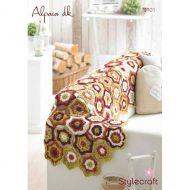 Stylecraft Leaflet 9101  Crochet Throw