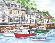 Anchor Padstow Harbour Tapestry Kit.