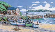 Anchor Mullion Cove Cornwall Tapestry Kit.