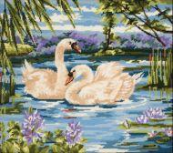Anchor Swans Tapestry Kit.