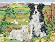 Anchor Border Collie and Lamb Tapestry Kit.