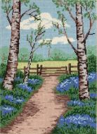 Anchor Bluebell Walk Tapestry Kit.