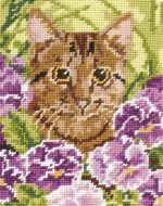 Anchor Cat Tapestry Starter Kit.