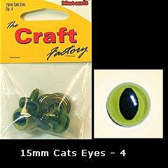 Green Cats Eyes 15mm