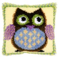 Vervaco  Mr Owl Latch  Hook  Cushion Kit