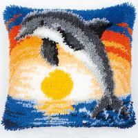 Vervaco  Dolphin Latch  Hook  Cushion Kit
