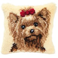 Vervaco  Yorkshire Terrier Latch  Hook  Cushion Kit
