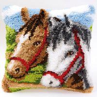 Vervaco  Ponies Latch  Hook  Cushion Kit
