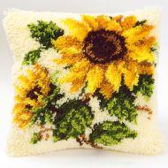 Vervaco  Sunflowers on Cream Latch  Hook  Cushion Kit