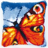 Vervaco  Butterfly Latch  Hook  Cushion Kit