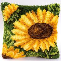 Vervaco  Sunflowers Latch  Hook  Cushion Kit