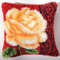 Vervaco  Rose Latch  Hook  Cushion Kit