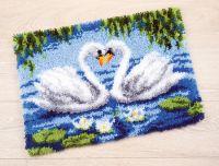 Latch Hook Rug Kit: Swans