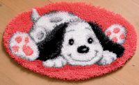 Latch Hook Shaped Rug: Puppy