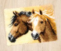 Latch Hook Rug Kit - Horses