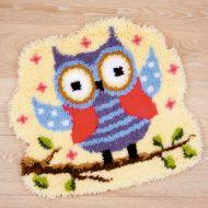 Latch Hook Shaped Rug: Owl