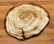 Latch Hook: Shaped Rug: Tree Stump