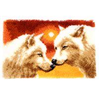 Latch Hook Kit: Rug: Wolves