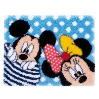 Latch Hook Kit: Rug: Disney: Mickey & Minnie: Peek-a-boo