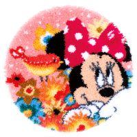 Latch Hook Kit: Shaped Rug: Disney: Minnie: Psst Ive a secret