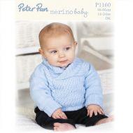 Peter Pan Leaflet 1160 Baby Boy Dk Jumper