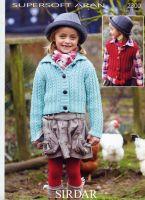 Sirdar Girls Cardigan & Waistcoat pattern Number 2300
