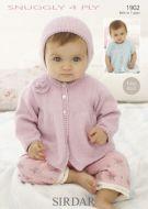 Sirdar Baby Cardigan & Bonnet Pattern Number 1902