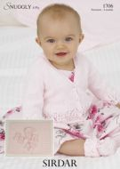 Sirdar Baby Cardigan Hat Bootees & Blanket pattern Number 1706