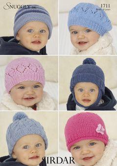 Sirdar Baby Hat pattern Number 1711