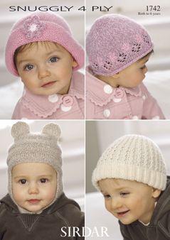 Sirdar Baby hat pattern Number 1742