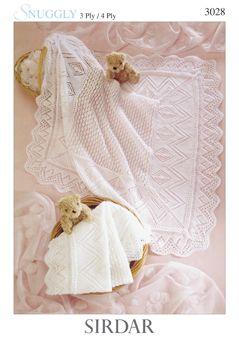 Sirdar Baby Shawl Pattern Number 3028