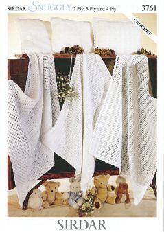 Sirdar Blanket & Pillowcase pattern Number 3761