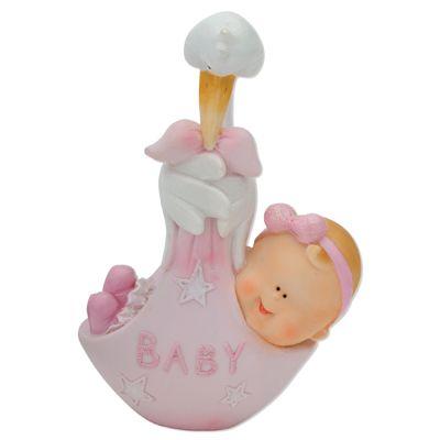 Baby & Stork Resin Pink