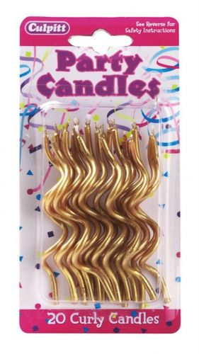 Curly Candles Gold