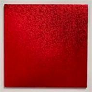 Red 12 inch Square Cake Board