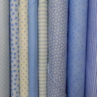 Blue and Aqua Fabric