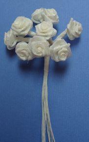 Iridescent White Ribbon Roses