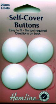 Nylon Self Cover Buttons 29mm