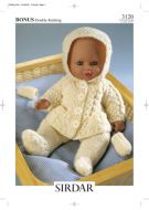 Knitted Doll's Clothes Sirdar Leaflet 3120