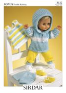 Knitted Doll's Clothes Sirdar Leaflet 3122