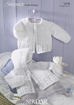 Sirdar baby matinee coat pattern Number 1579