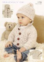 Sirdar Baby Boy Jacket & Hat pattern Number 1776