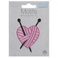 Embroidered Motif - Knitted Heart